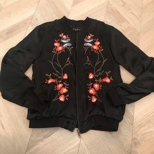Walter Baker Floral Black Embroidered Bomber M